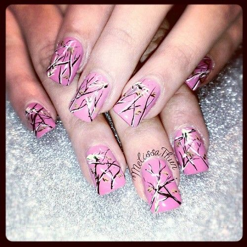 Real tree and pink camo nails - Real Tree And Pink Camo Nails Pinterest Pink Camo, Camo And