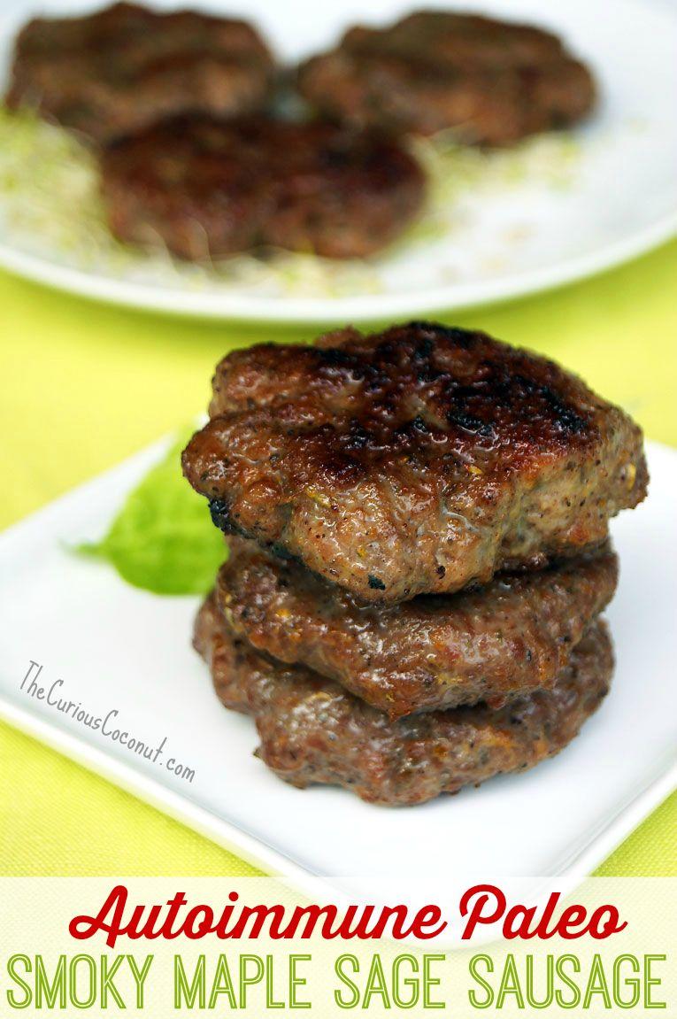 AIP Smoky Maple Sage Breakfast Sausage // TheCuriousCoconut.com #paleo #autoimmunepaleo #breakfast #selvahwellness
