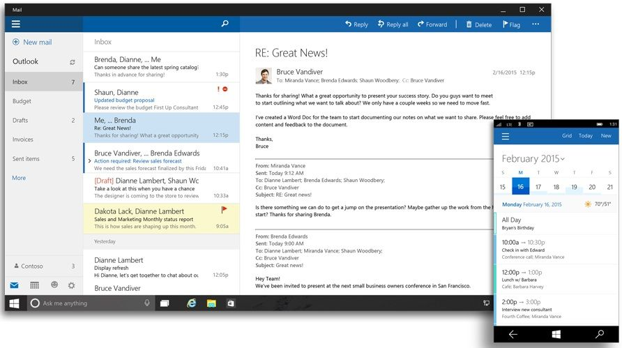 Outlook para Windows 10