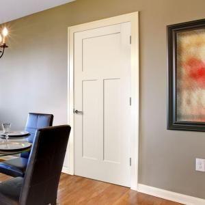 Masonite 36 In. X 80 In. Winslow Primed 3 Panel Solid Core Composite Interior  Door Slab