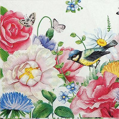 Ideal for Decoupage Watercolour Pansies 4 x Paper Napkins Napkin Art