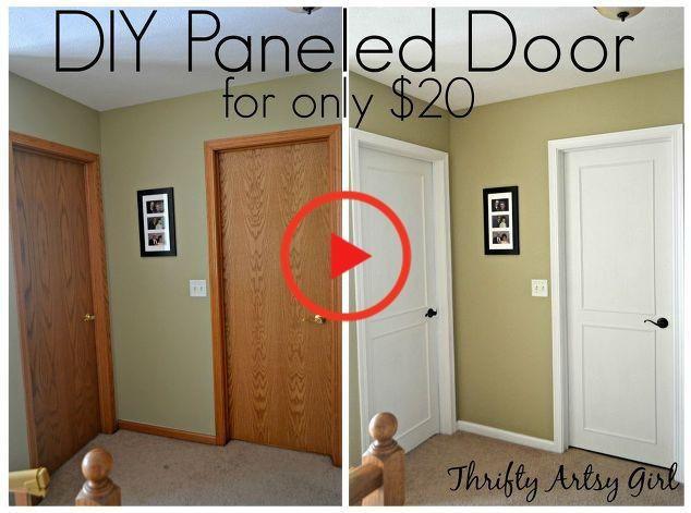 あなたの退屈な古いドアを取り、彼らに予算上の美しいカスタムメイドの変身を与えます。 #diy #doors #doorsonabudget #trim #farmhouse #add #remodelideas