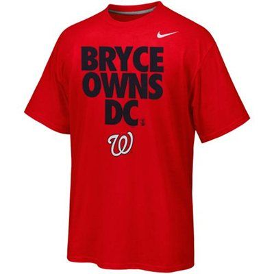 c10270e8677 Nike Bryce Harper Washington Nationals Player Owns City T-Shirt - Red. Yep!  He has our hearts!!!