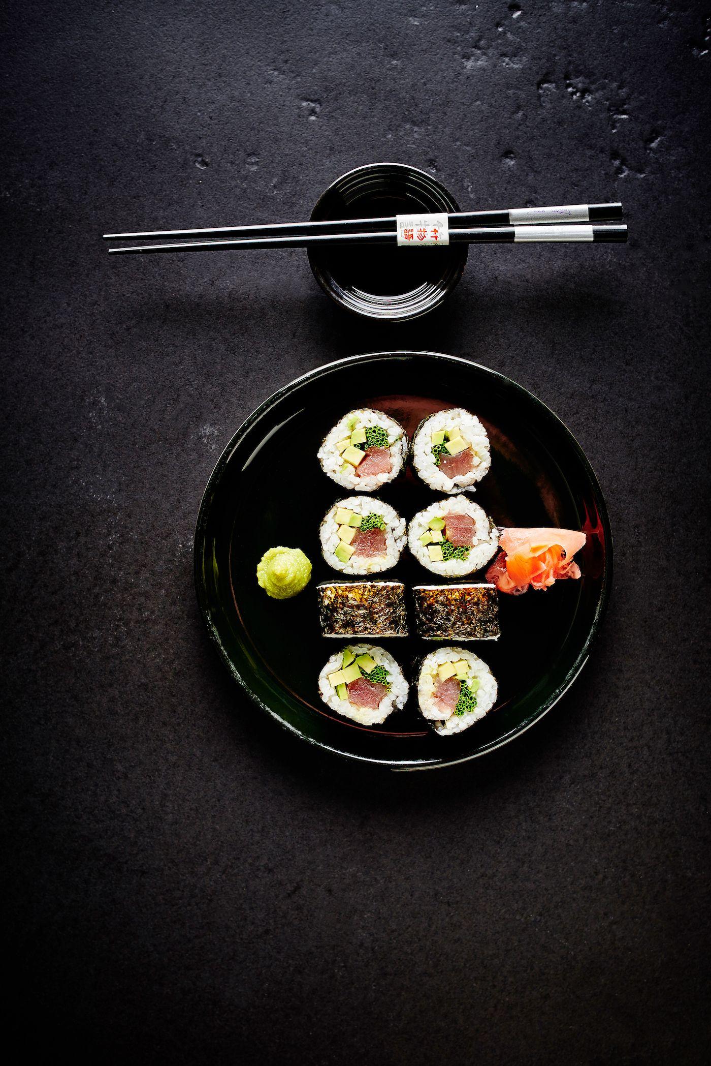 Editorial sushi photography for Četras Sezonas magazine