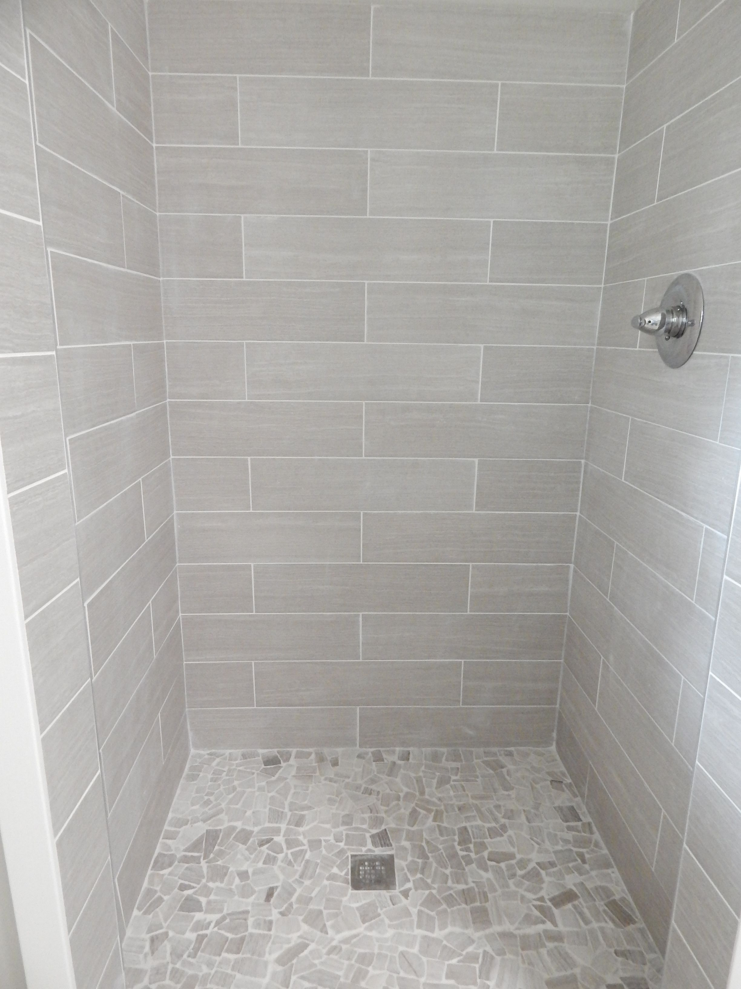 tile bathroom shower walls everything from lowe s shower walls 6x24 leonia silver 20818