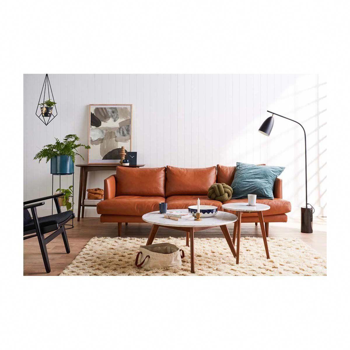Life interiors carl 3 seater leather sofa tan modern sofas buy your furniture online or in store buyfurnitureonline