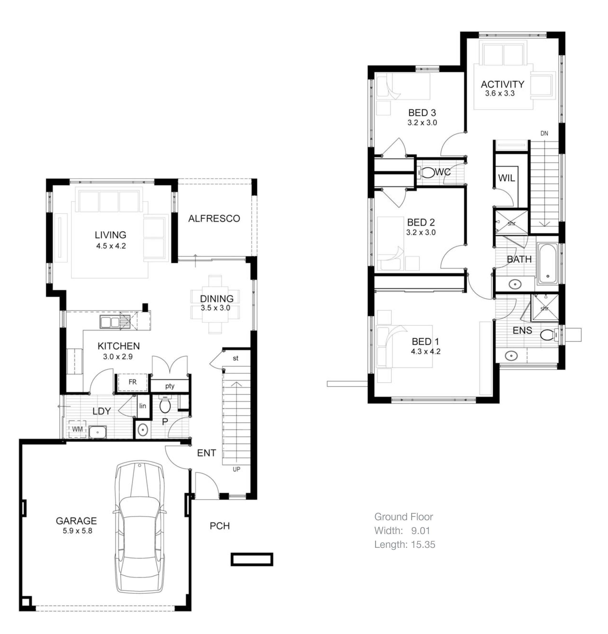Image Result For Open Concept House Layout Denah Lantai Rumah Denah Rumah Denah Rumah Kecil