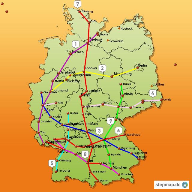 Deutschland Karte Autobahnen Und Städte.Deutschland Karte Autobahn Autobahn Deutschland Karte Geography