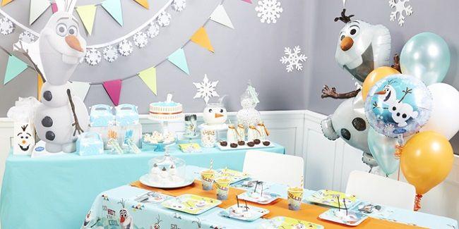 Olaf Birthday Party Supplies  Snowman birthday parties, Olaf