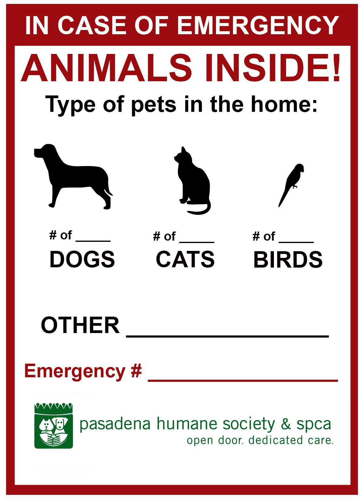 May 8 Is Animal Disaster Preparedness Day We Encourage Pet Owners To Always Include Animal Companions Pet Emergency Emergency Response Team First Aid For Kids
