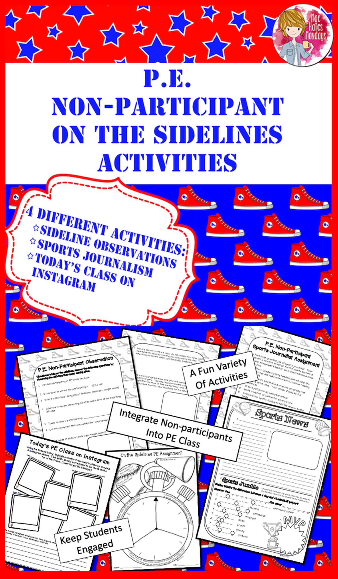 Pe Non Participant On The Sidelines Activity Pack