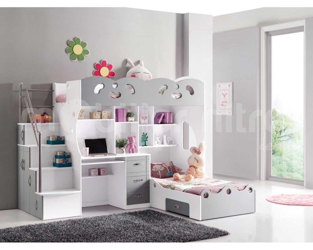 Lit mezzanine sacha in girl s bedroom lit lit mezzanine