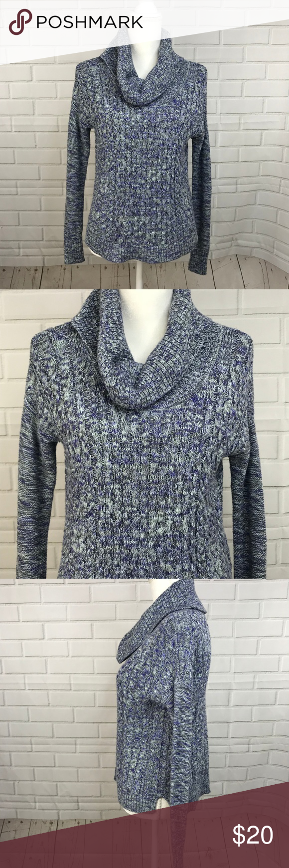 American Eagle Outfitters Womens Sweater Blue Knit This Is A