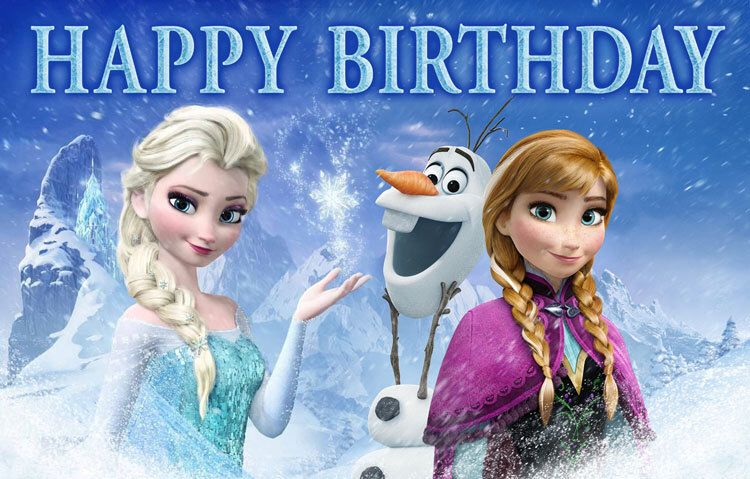 Disney Frozen Birthday Banner Elsa Anna Olaf By
