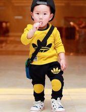 Christmas Spring Autumn baby clothing boys girls tracksuits cartoon shirt+ pants 2pcs kids boy clothes Children clothing set(China (Mainland))