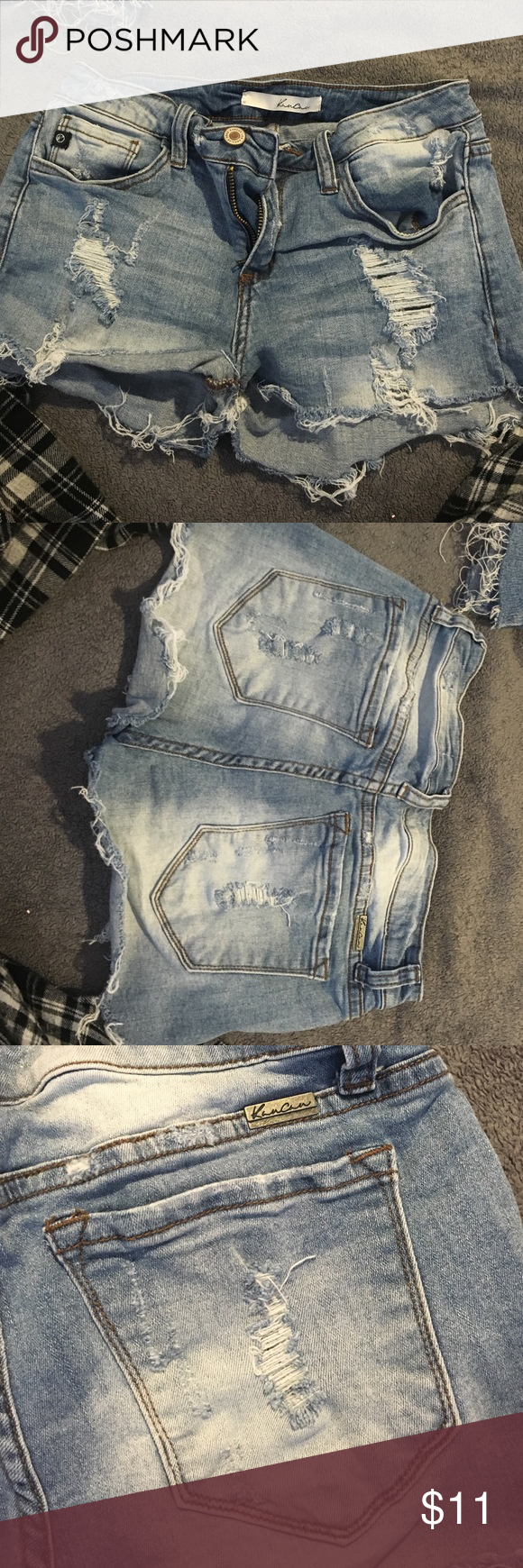 Jean shorts Frayed shorts. Slight acid wash. Worn a few times. Great condition Shorts
