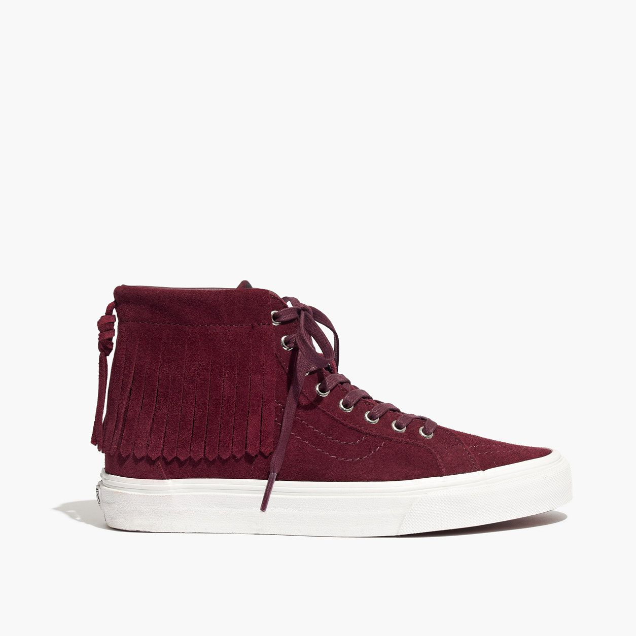 19bad9a66ce0 Madewell Vans Sk8-Hi Moccasin High-Top Sneakers