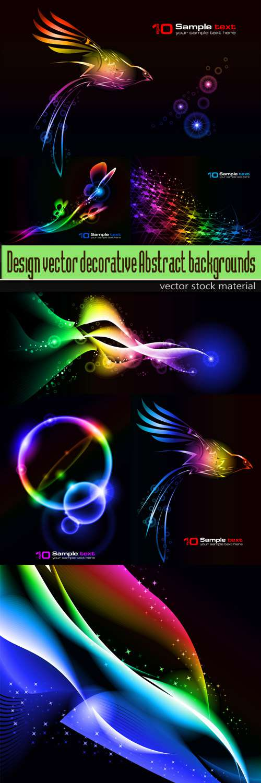 Дизайнерские абстрактные фоны Design vector decorative   Abstract backgrounds