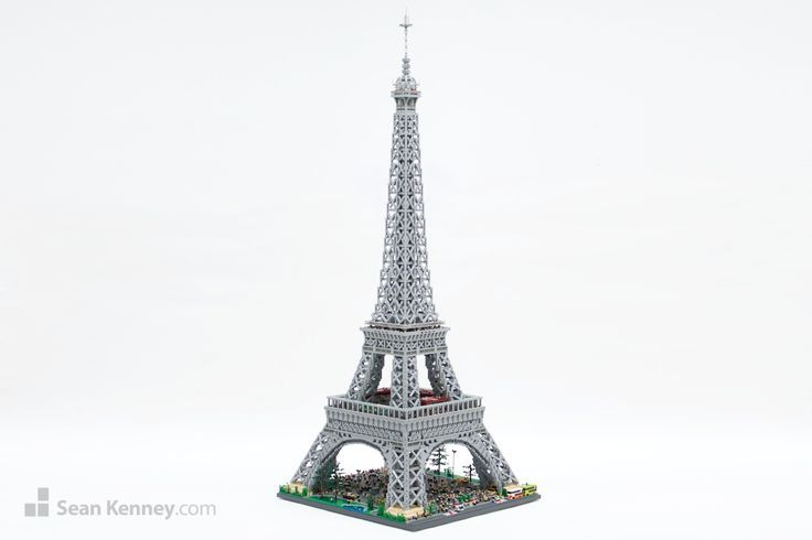 Sean Kenneys Lego Eiffel Tower Over 7 Feet High Lego