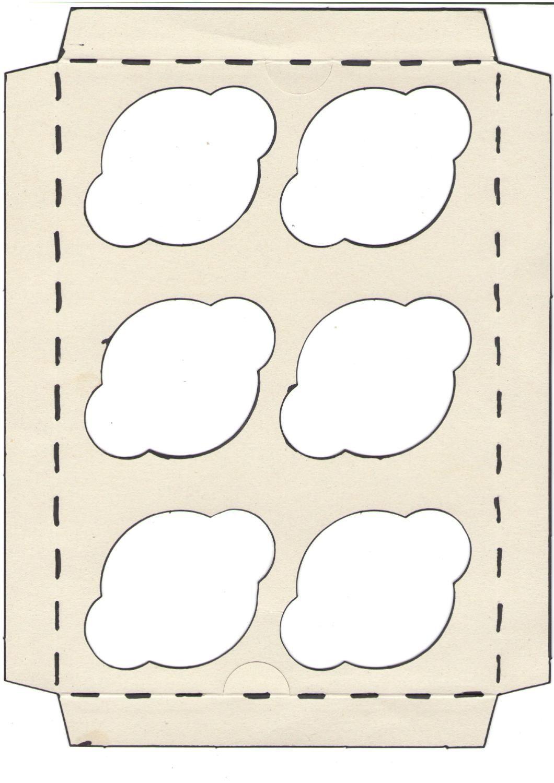 plantilla base caja cupcakes | Cupcake boxes, Cup cakes and Stenciling