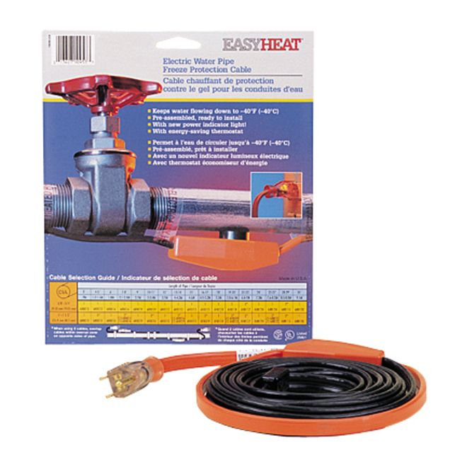 Easyheat Freeze Protection Cable Rona Water Pipes Fiberglass Insulation Frozen Pipes