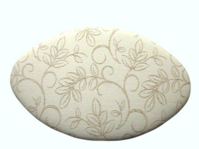 ovaler Hocker, gepolstert mit trendigem Bezug von Jana's kleine Möbelwelt auf DaWanda.com