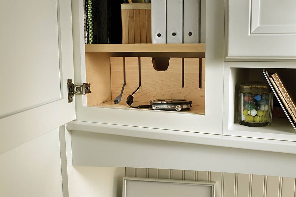 Cabinet Charging Station From Medallion Cabinetry Great Use Of