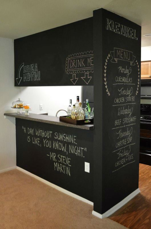 32 Cool Chalkboard Room Divider Design Ideas | Divider, Chalkboards ...