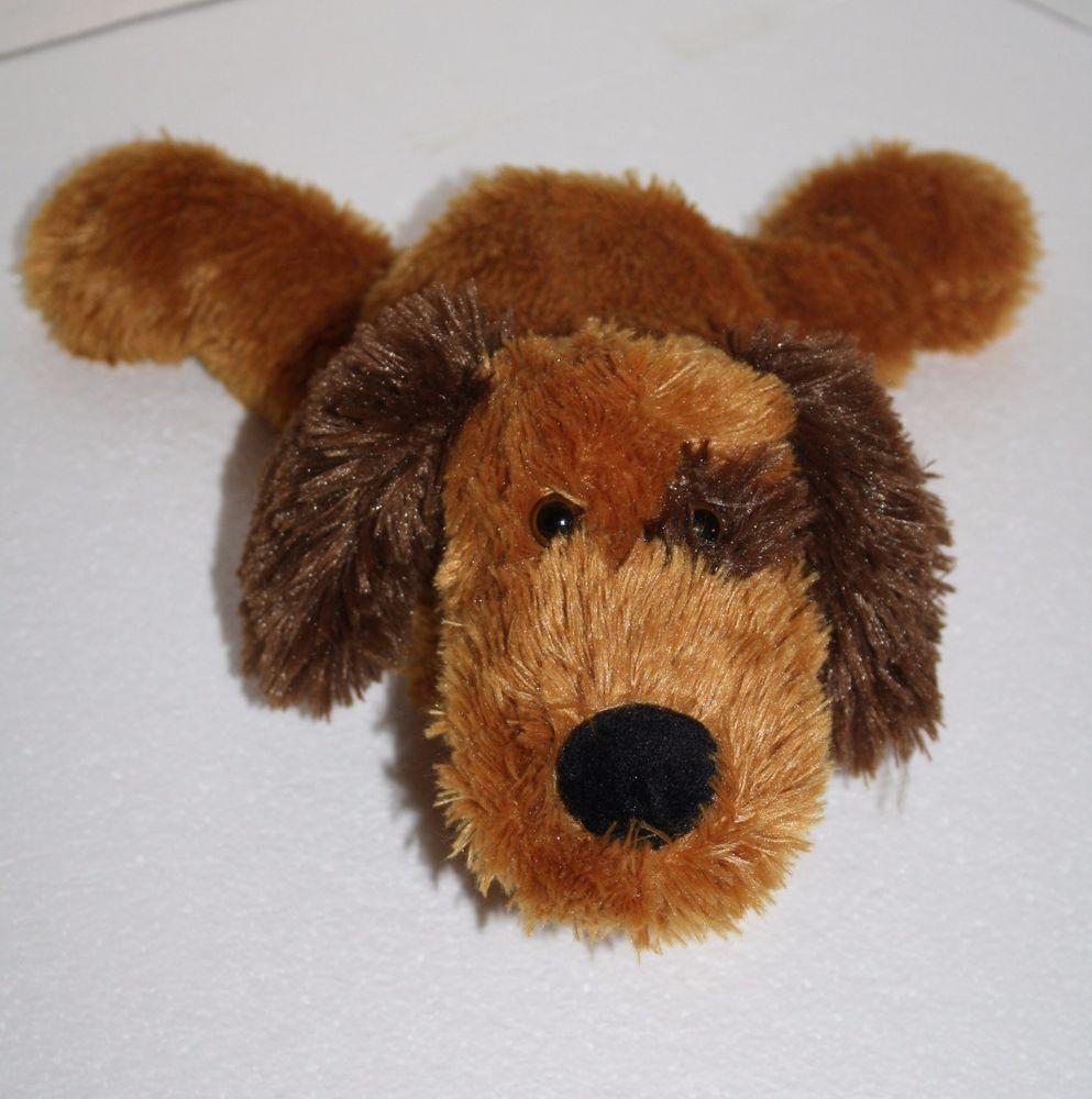 Dan Dee Tan Brown Eye Patch Dog 12 Plush Nose Floppy Stuffed