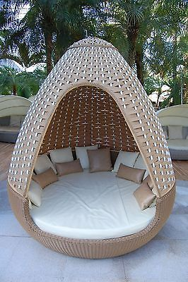 gartenmobel polyrattan sonneninsel, details zu reelaxx egg - poly rattan sonneninsel gartenmöbel lounge, Design ideen