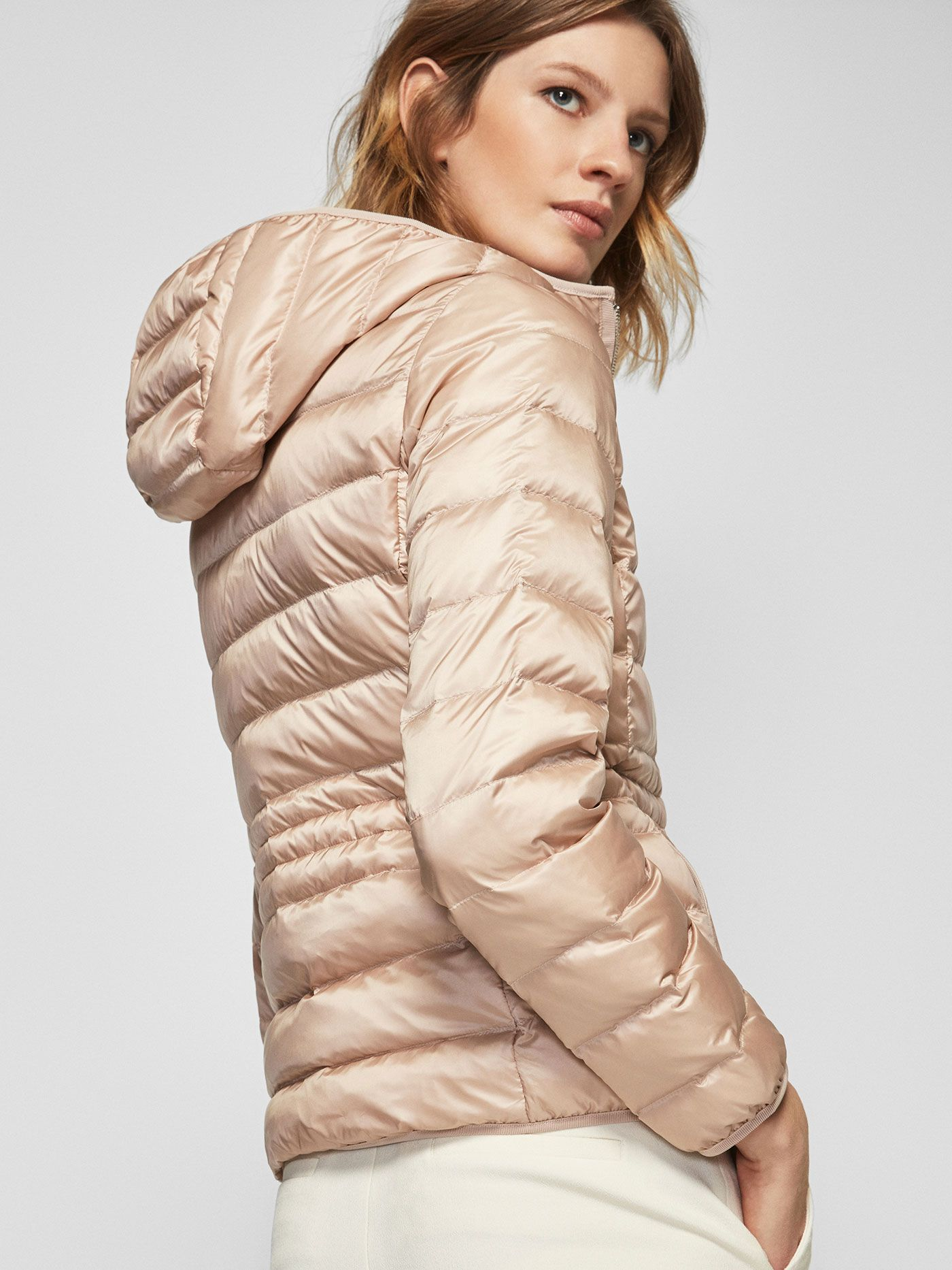 Autumn Spring Summer 2017 Women S Pink Feather Down Jacket At Massimo Dutti For 89 5 Effortless Elegance Coats Jackets Women Jackets Outerwear Women [ 1866 x 1400 Pixel ]