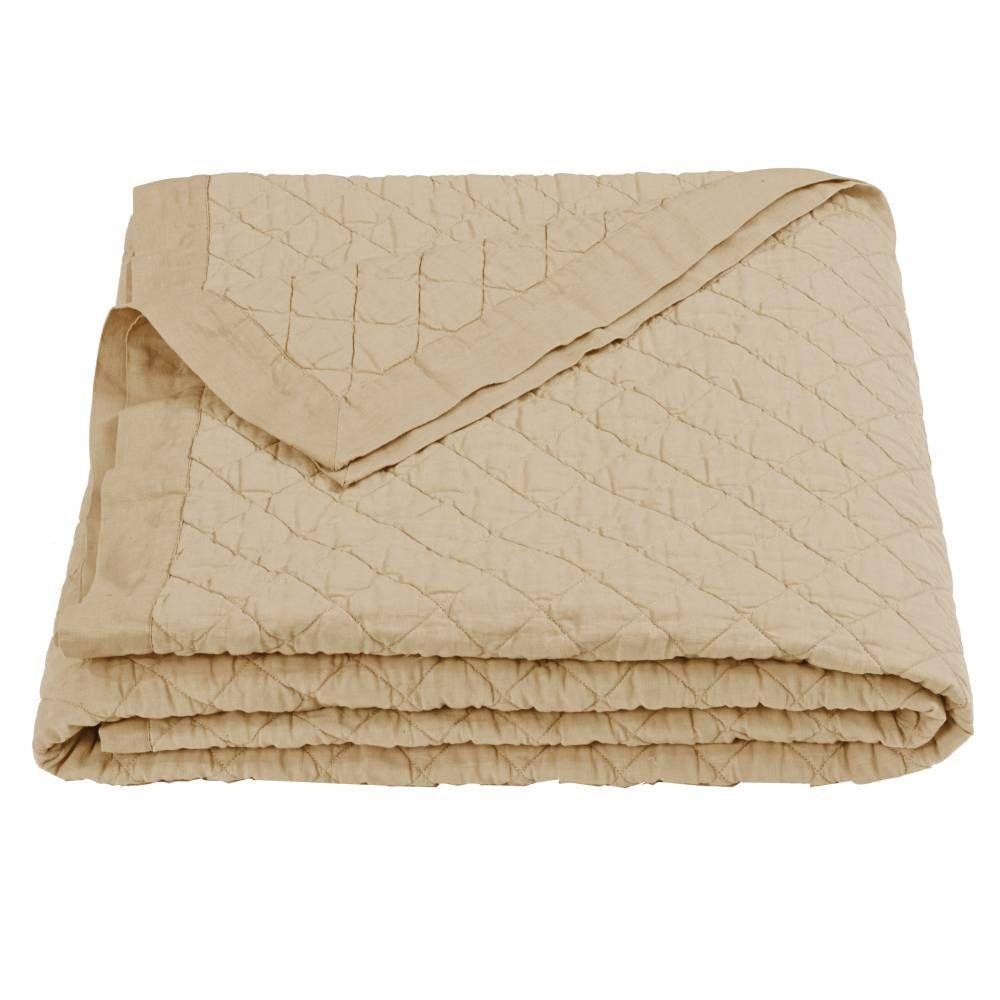 Diamond Pattern Linen Quilt