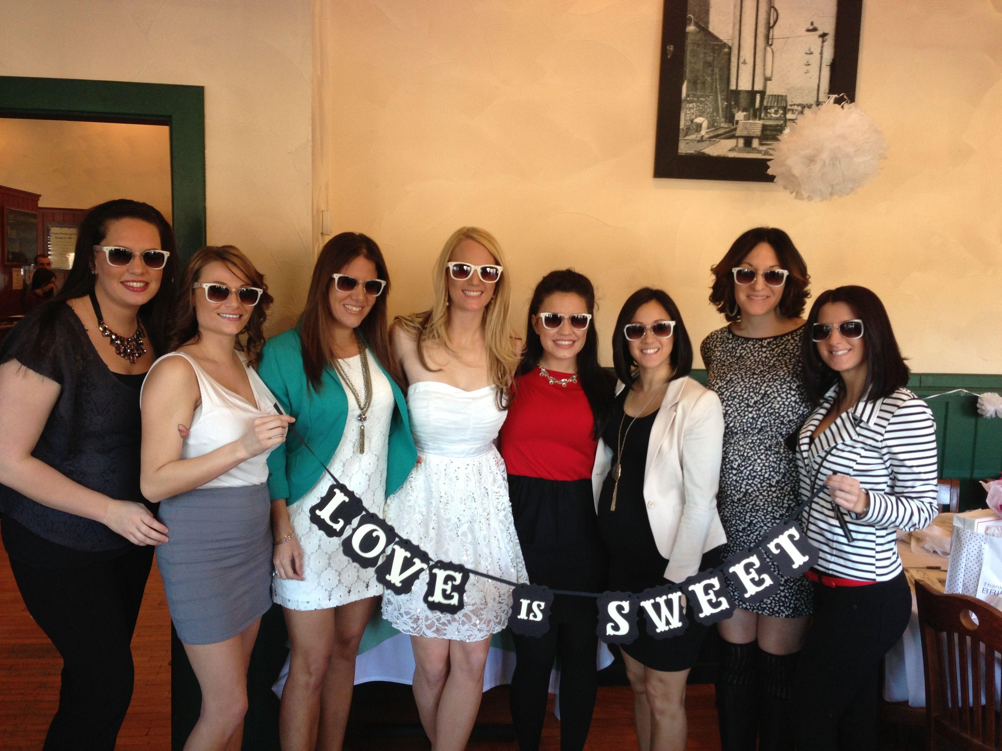 My bridal party. Matching sunglasses   Wedding   Pinterest   Bridal ...