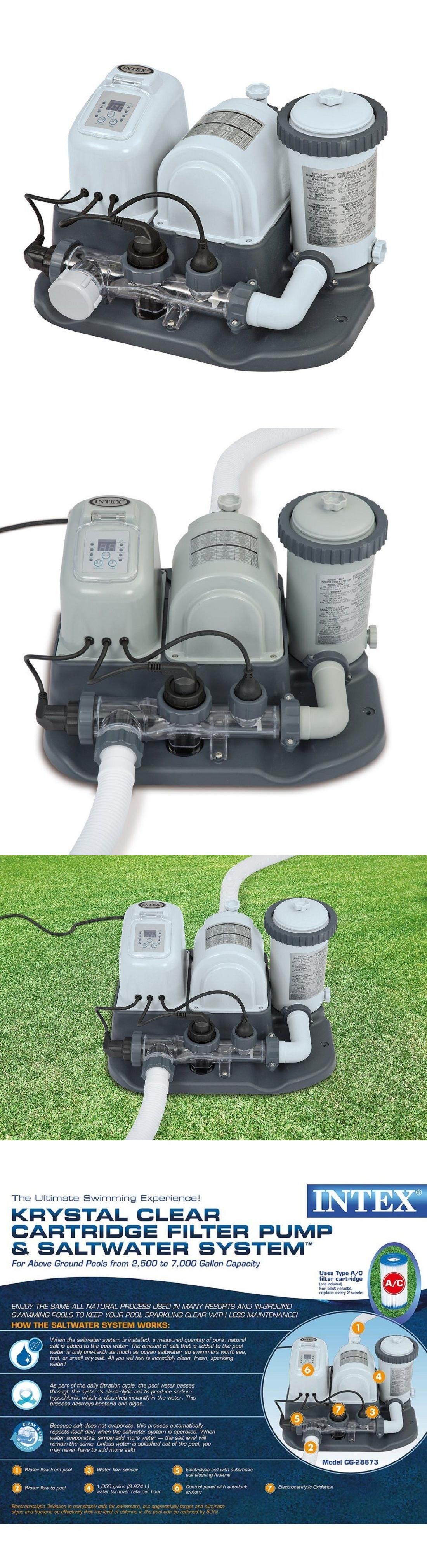 Pool Filters Brandnew Intex 120V Krystal Clear Saltwater