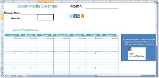 How to Create and Manage an Editorial Calendar Social media - copy blueprint social media marketing agency