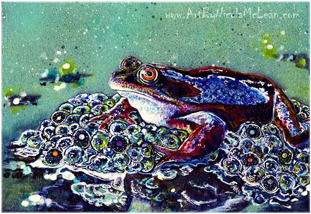 Spirit animal art - frog - Nicola McLean