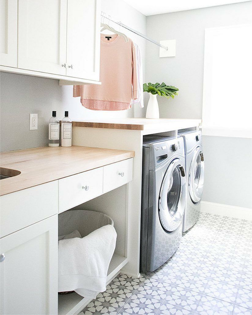 Pin By Tinyportuguese On House Decor Laundry Room Tile White