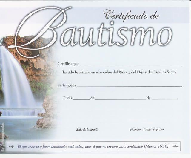 Formatos de diplomas cristianos - Imagui | Diploma Bautizo 1 ...