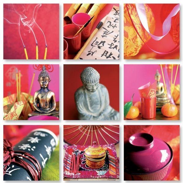 Tableau design Patchwork Bouddha