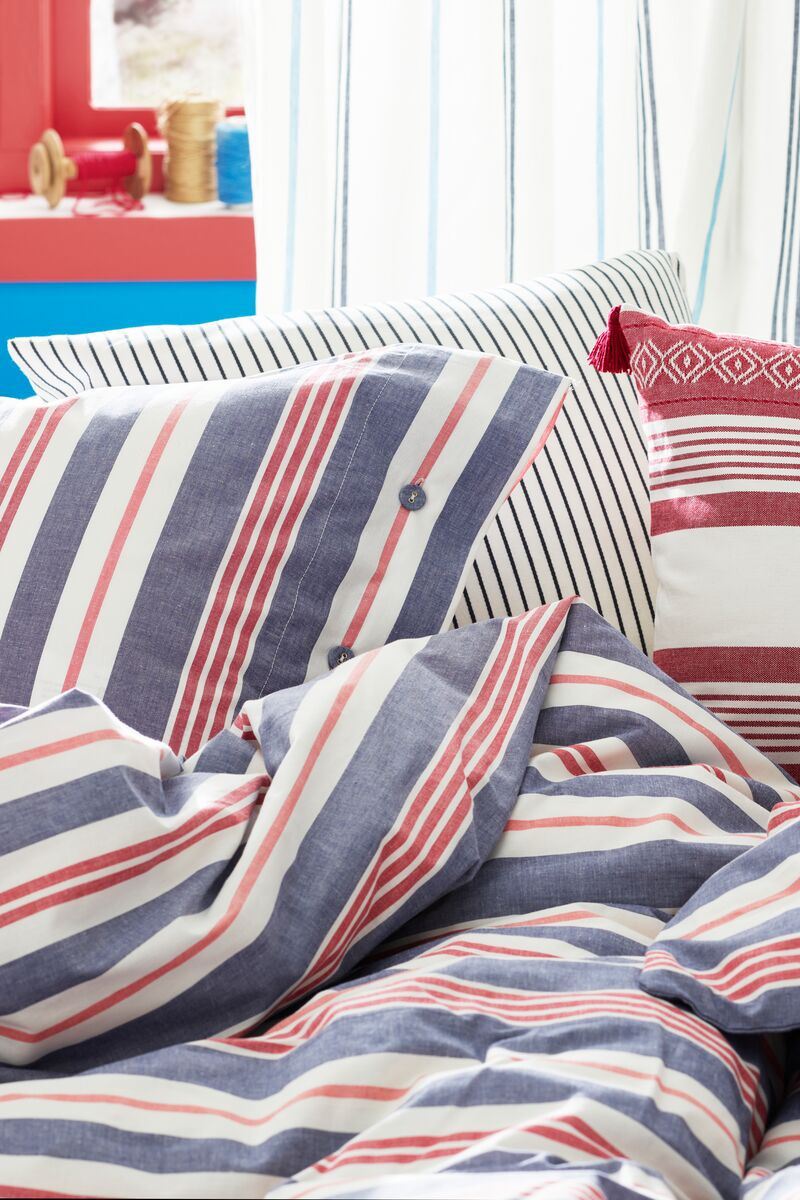 Smalstakra Bettwascheset 2 Teilig Blau Rot Gestreift Ikea