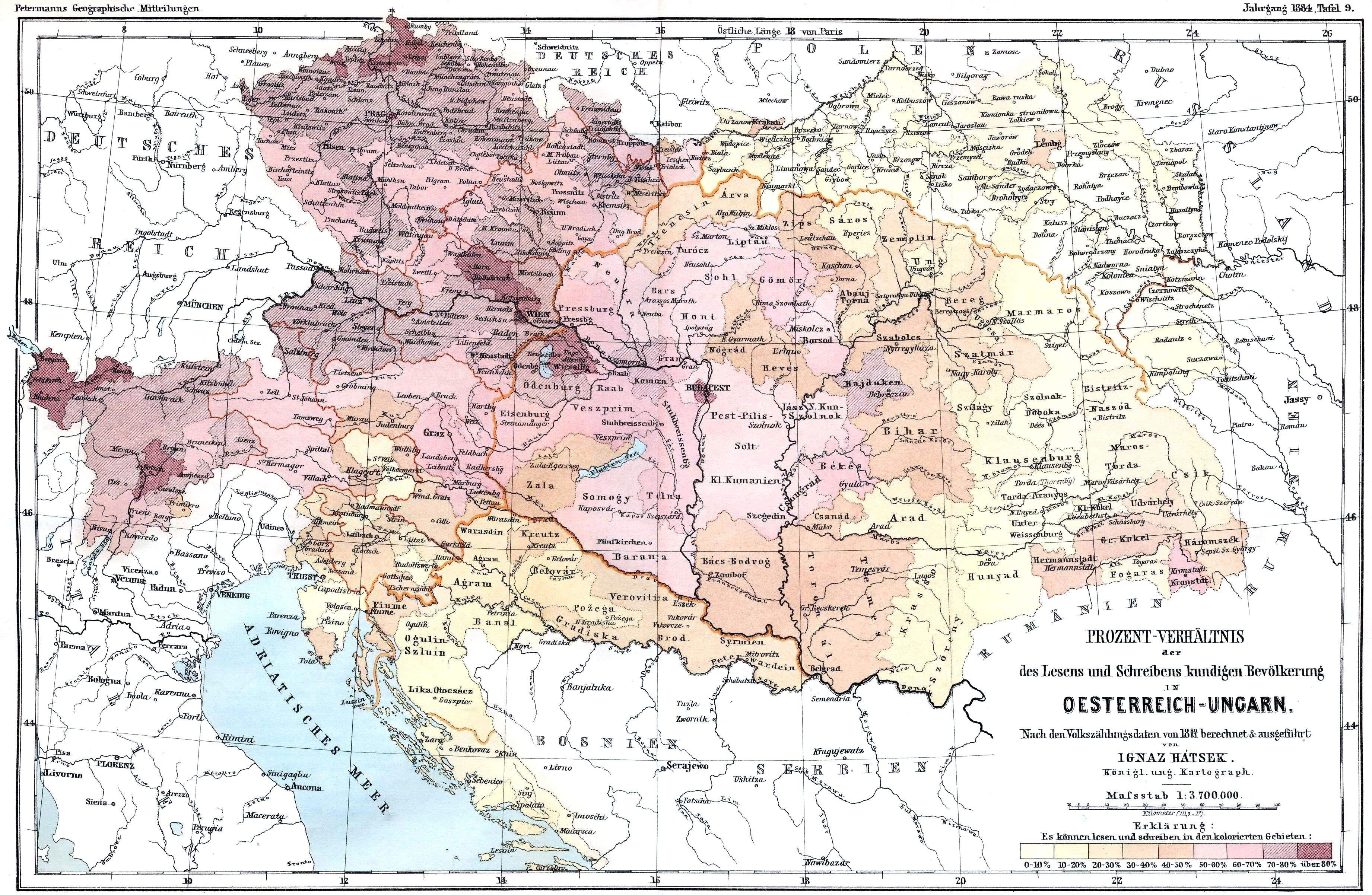 Literacy In AustriaHungary Census  WW  Pinterest - Railway map usa 1890