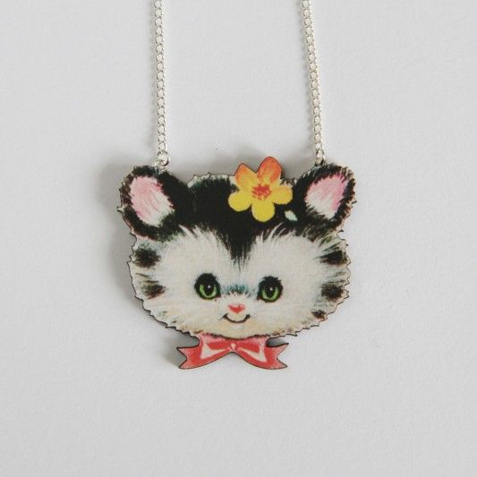 Cat Head Necklace at http://www.ohhdeer.com