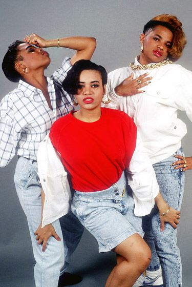 """Salt-n-Pepa  This '80s hip-hop trio was one of the first all-female rap groups. Consisting of Cheryl James, SandraDenton and Deidra Roper, the group was known for the smash singles """"Push It,"""" """"Let's Talk About Sex"""" and """"Whatta Man."""" Salt-n-Pepa produced five studio albums and won a Grammy throughout the '90s before they disbanded in 2002."""