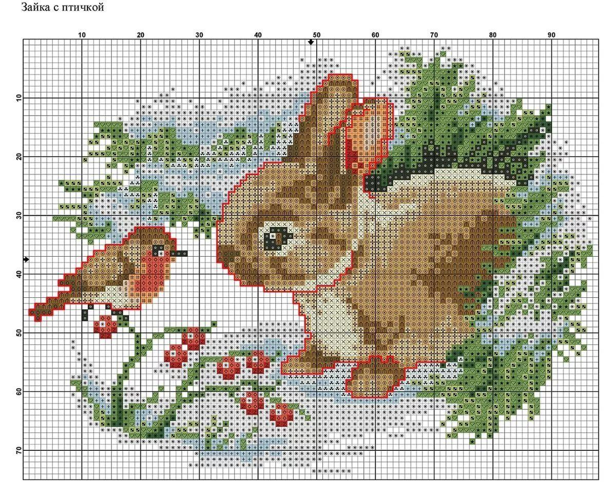 Картинка схема вышивки крестиком