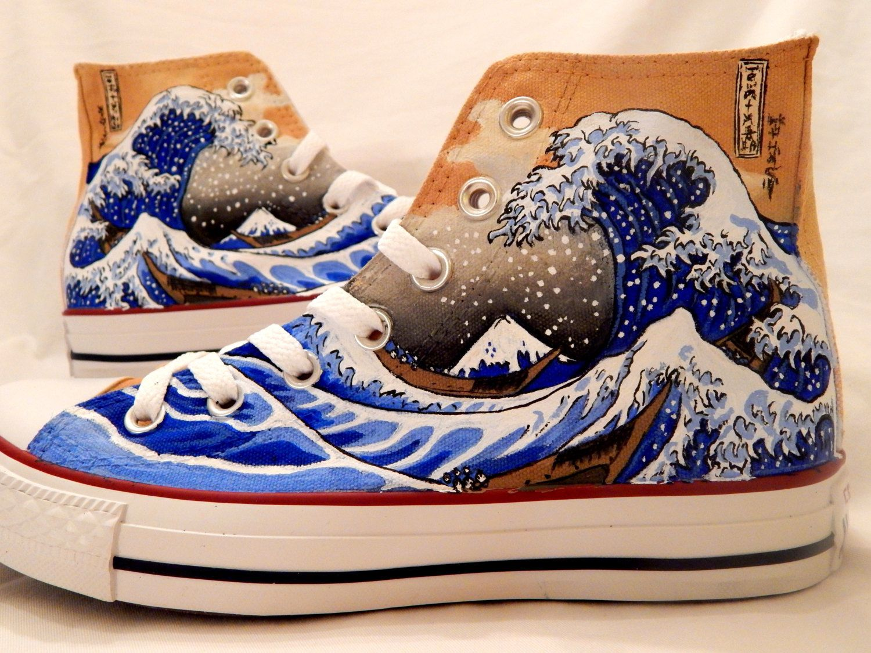 33eeb8602b13 The Great Wave off Kanagawa Shoes by AllHeartAndSole on Etsy https   www.