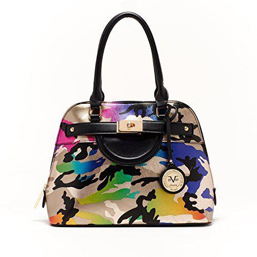 V1969 Italia Womens Designer Henley Dome Satchel Camo Handbag by VERSACE  19.69 ABBIGLIAMENTO SPORTIVO SRL ee96882fec25a