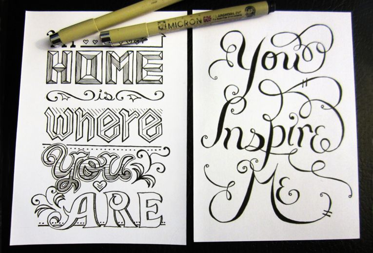 Scribble Drawing Quotes : Hand lettering quotes melissa gillard
