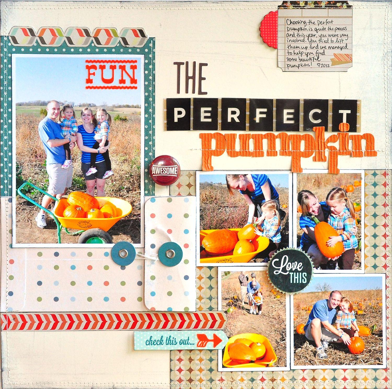 The Perfect Pumpkin ~Scrapbook Circle~ - Scrapbook.com