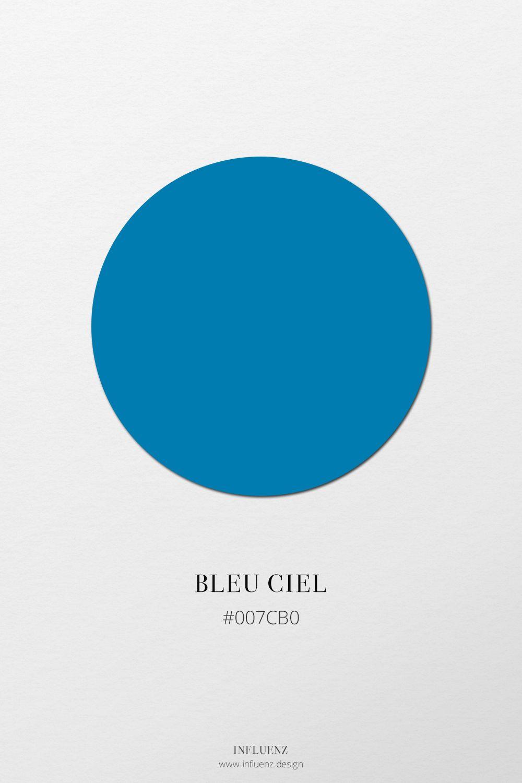 Champ Chromatique Bleu Couleurs