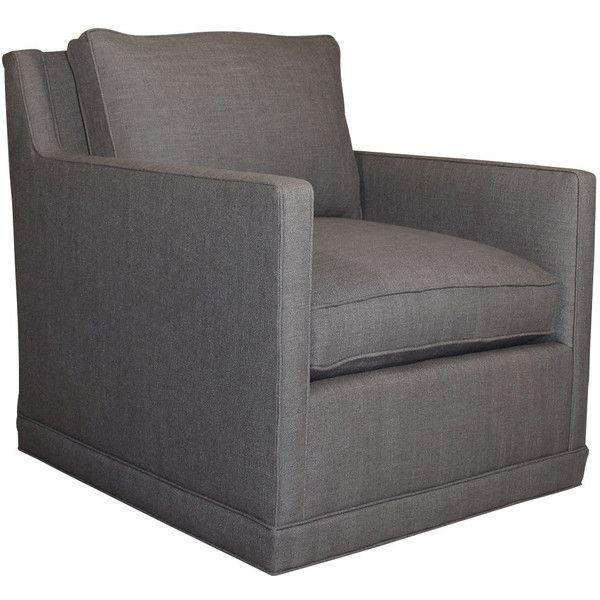 nina st clair charcoal tweed swivel chair 1 290 liked on